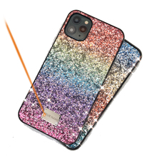 Women Luxury Gift Phone Back Case for iphone 11 Pro Max 12mini Color CKHB 911 Gradual Glitter Hard Case for iphone Xs Max cases