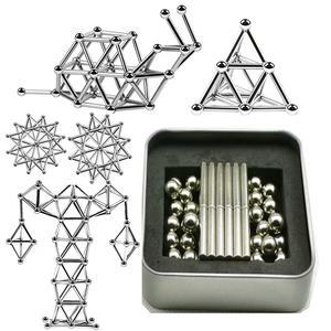 Toys Cube Building-Blocks Steel-Balls-Set Magnets Puzzle Construction Magic Metal Children