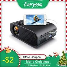 Светодиодный видеопроектор Everycom M7, HD 720P, HDMI опционально, Android, Wi Fi, поддержка Full HD 1080P, домашний кинотеатр