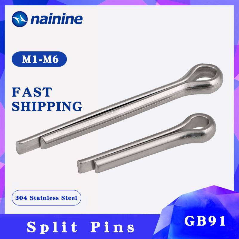 20/50Pcs M1 M1.5 M2 M2.5 M3 GB91 304 Stainless Steel Cotter Pin HW174