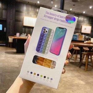 Image 3 - Pop it fidget Phone Case For IPHONE 12 PRO MAX/11 PRO/XS MAX/XR/78 Plus 3D Decompression Silicone Case Bubble Toy Fidget