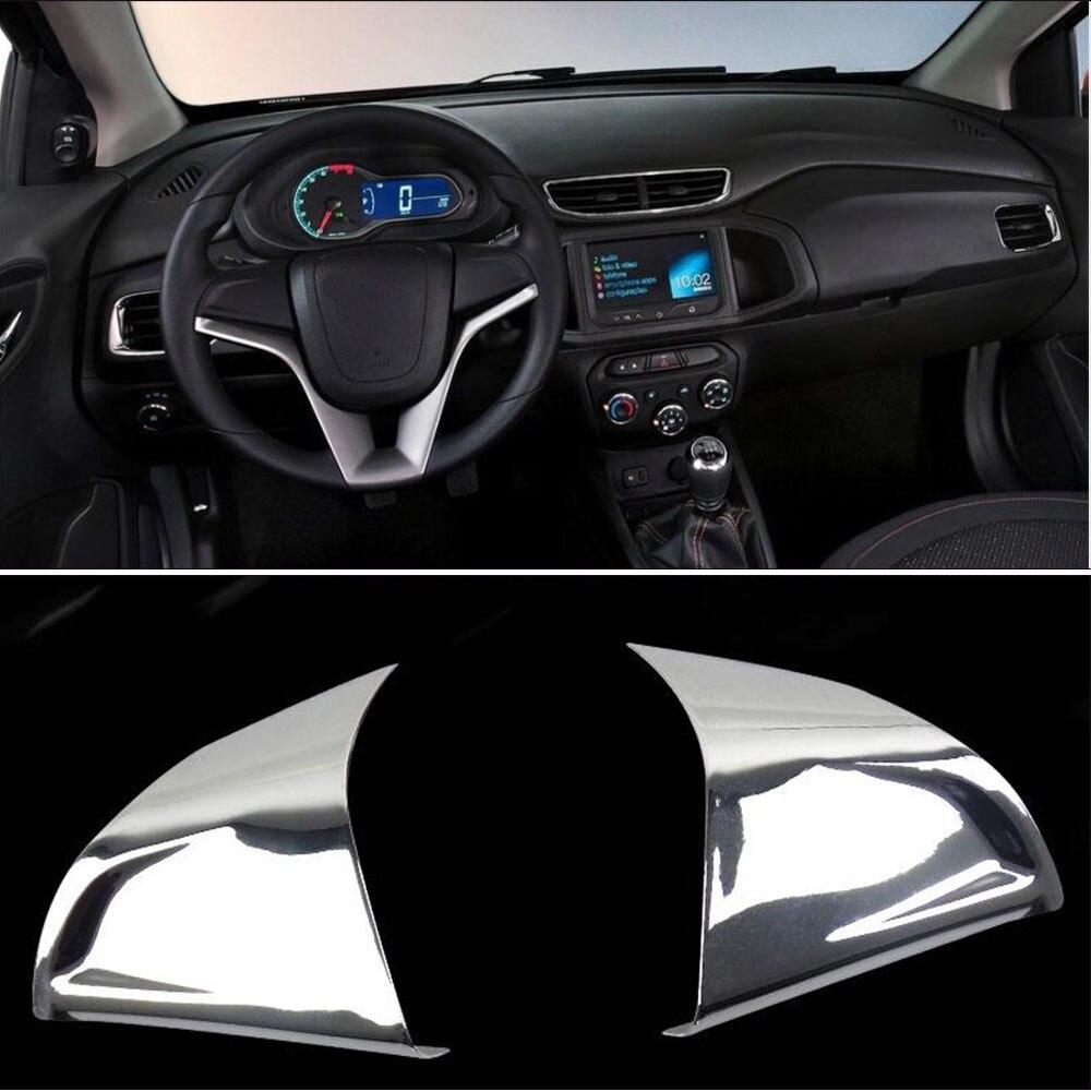 Auto Zubehör Innen Lenkrad Trim Dekorateur trim Aufkleber für Chevrolet Orlando Cruze Trax Aveo Sonic Onix Kobalt