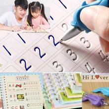 1шт новинка дети% 27 книги многоразовые 3D каллиграфия тетради английский номер надписи практика тетради игрушки для детей девочек