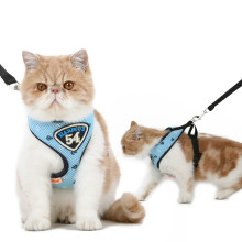 HOOPET Pet Cat Dog Harness Vest Leashes Suit Navy Blue Dogs Collars and Harnesses Cute Breathable Leash Set