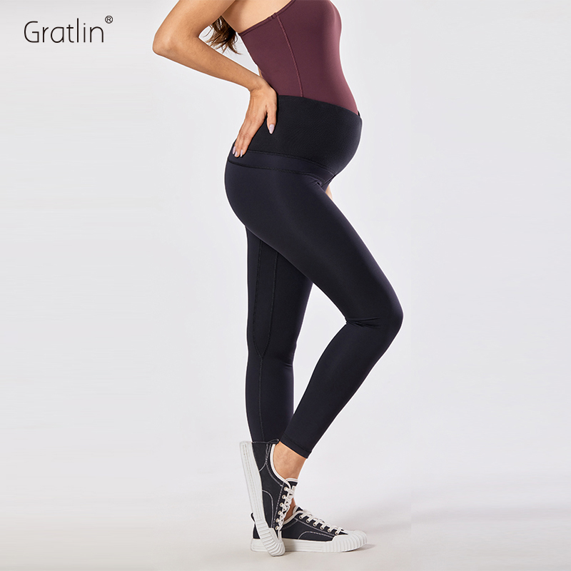 Belly Active Pregnance Pants Women's Maternity Leggings - 25 Inches