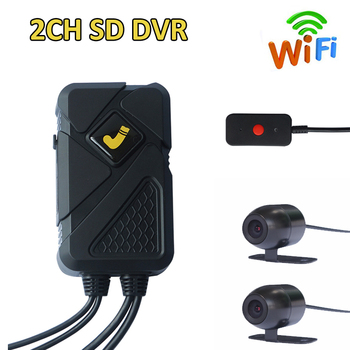2 channel Video register car dvr 2ch MDVR 2Channel mobile video recorder vehicle dvr car security camera system недорого