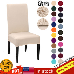 1/2/4/6 sztuk pokrowiec na krzesło elastan Stretch Solid Color nowoczesne zwykły elastyczne pokrowce na krzesła pokrycie siedzenia do jadalni Hotel bankiet weselny|Pokrowiec na krzesło|Dom i ogród -