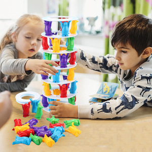 Image 1 - Tower Collapse Desktop Game Balance Toy Challenge Tower Stacked Parent Child Interactive Board Game Intelligence Toys For Kids