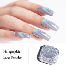 0.5g 1g Holografische Laser Poeder Regenboog Nail Art Chameleon Glitter Chrome Poeder Pigment Manicure Nail Gel Polish Glitter stof