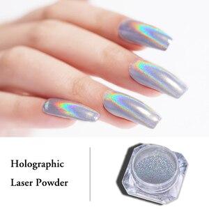 Image 1 - 0.5g 1g  Laser Powder Rainbow Nail Art Chameleon Glitter Chrome Powder Pigment  Nail Gel Polish Glitter Dust