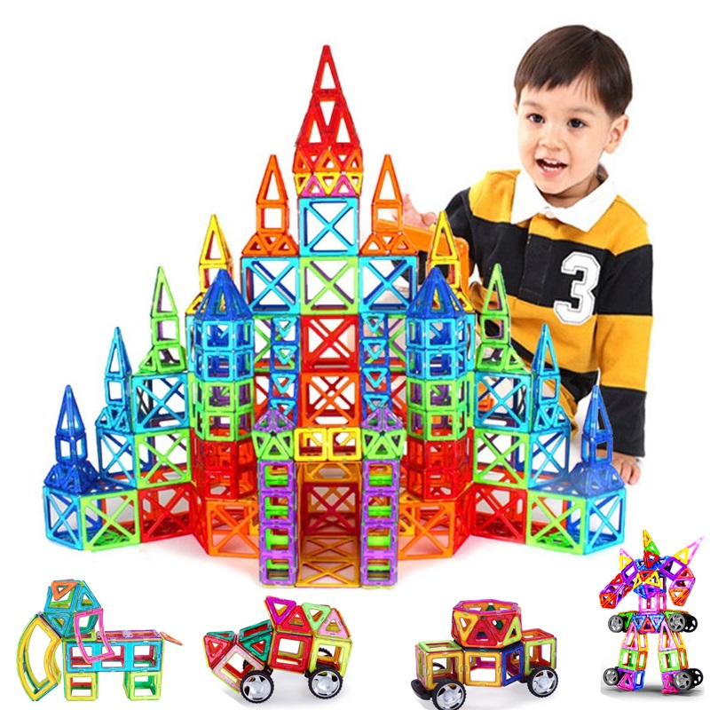 135PCS Big Size Magnetic Constructor Set Boys Girls Building Magnets Toy Magnetic Blocks Educational Toys For Children