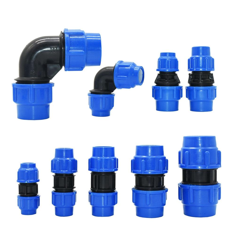 20/25/32/40/50 мм, PE, труба, быстроразъемный коленчатый соединительный элемент водопроводной трубы, пластиковые фитинги из ПВХ