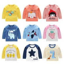 Spring Autumn Baby Shirt Long Sleeve Top T-shirt Baby Clothing Cartoon Boy's Clothes Girl's Cotton Clothing Infant Blouse