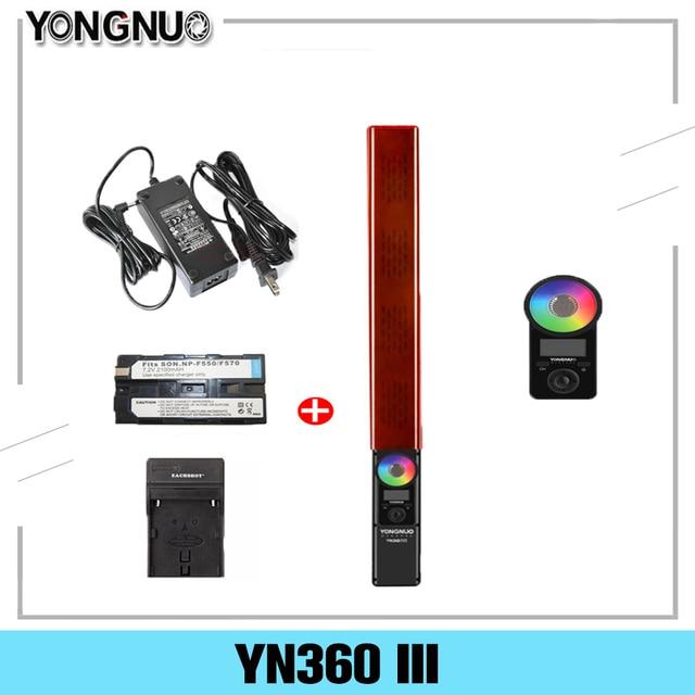 永諾YN360 iii YN360III ledビデオライトハンドヘルドタッチスクリーン調整リモート調整可能なrgb色温度3200k 5500 18k