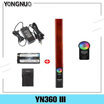 YONGNUO YN360 III LED Video Light Handheld Touch Adjusting with Remote Adjustable RGB Color Temperature 3200K-5500K travor tl 600a 2 4g kit bi color led video light 3200k 5500k for photography shooting three light 6pcs battery 3 light standing