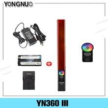 YONGNUO YN360 III YN360III LED וידאו אור כף יד מגע התאמת עם מרחוק מתכוונן RGB טמפרטורת צבע 3200K 5500K
