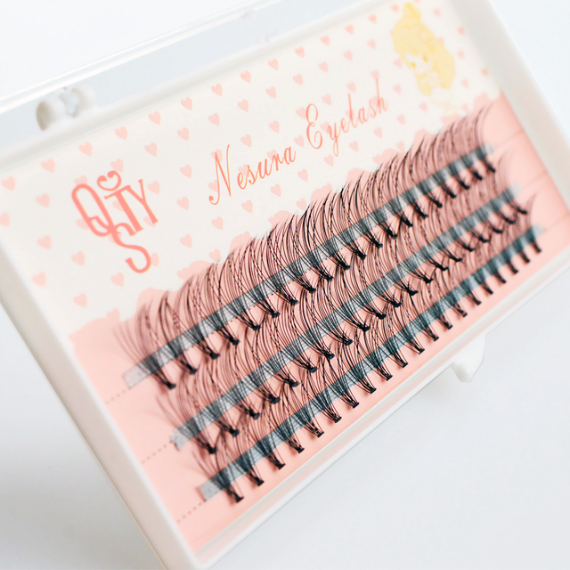 1box big capacity 60 bundles 6d 10D Eyelash Extensions 0.1mm Thickness true Mink Strip Eyelashes Individual Lashes Natural Style 3