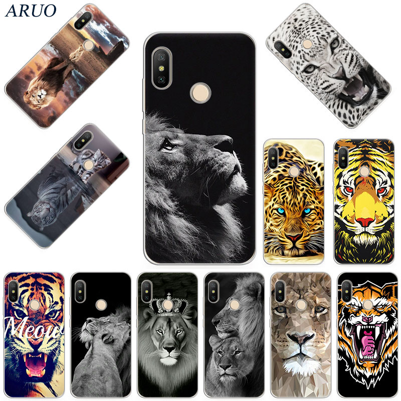 Phone <font><b>Case</b></font> For Redmi 6 7 a 9 10x Note 8 8T <font><b>Lion</b></font> king Tiger Animal Soft <font><b>Cases</b></font> for <font><b>Xiaomi</b></font> 8 CC9e Note10 Pro F1 A3 X2 9 Lite cover image