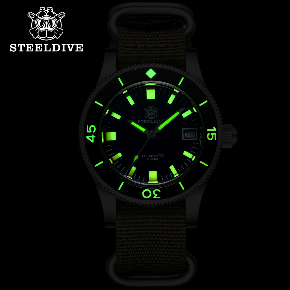 Steeldive SD1952T Japan NH35 Automatic Watches Ceramic Bezel Diving Wrist Watches Men 4