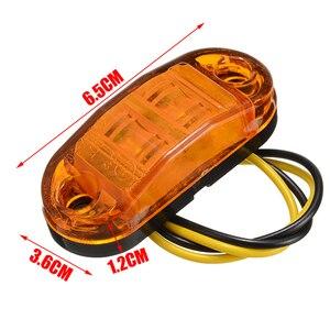 Image 3 - Nieuwe 10pcs 10V 30V 2LED Auto Side Marker Achterlicht Amber Trailer Truck Lamp Auto Bus Truck externe Verlichting Waterdicht
