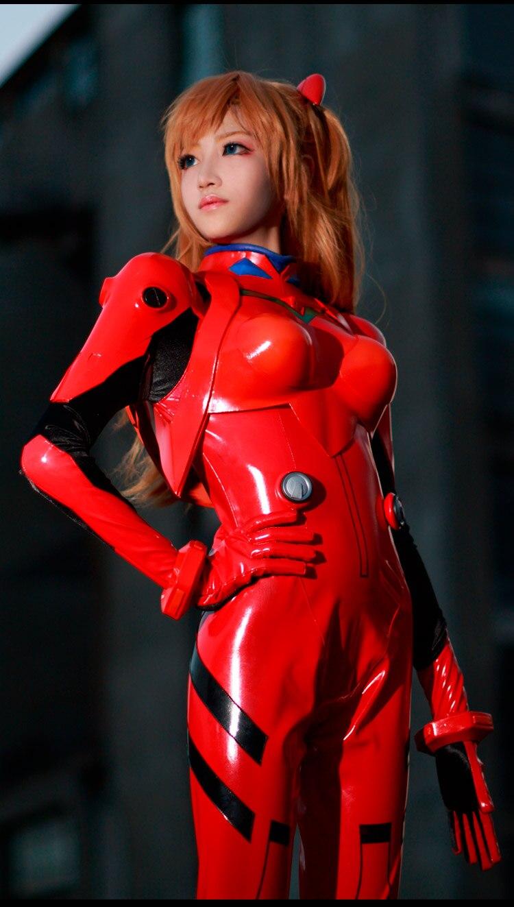Новинка года; платье Из Аниме EVA Ayanami Rei; костюм для косплея; - Цвет: Черный