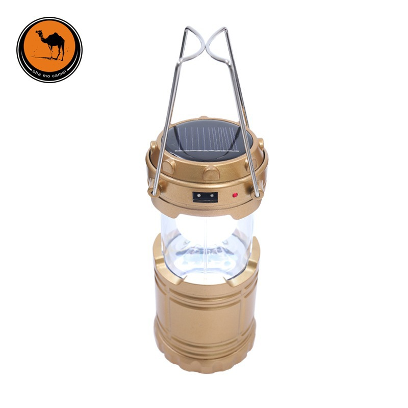 Outdoor Tent Camping Lamp Chargeable LED Solar Tent Lamp Super Bright Multi-functional Lantern Camping Light