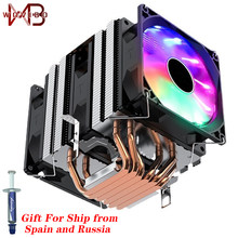 CPU Cooler Silent RGB 6 Heatpipes Ventilador PWM 4PIN For Intel 1150 1151 1155 1156 1200 1366 2011 X79 X799 AM3 AM4 Radiator