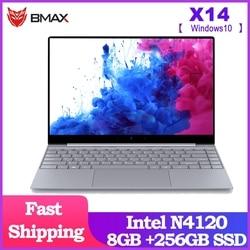 BMAX X14 portátil de 14,1 pulgadas Intel lago Géminis N4120 Intel UHD gráficos 600 8GB LPDDR4 RAM 256GB SSD ROM Notebook X14