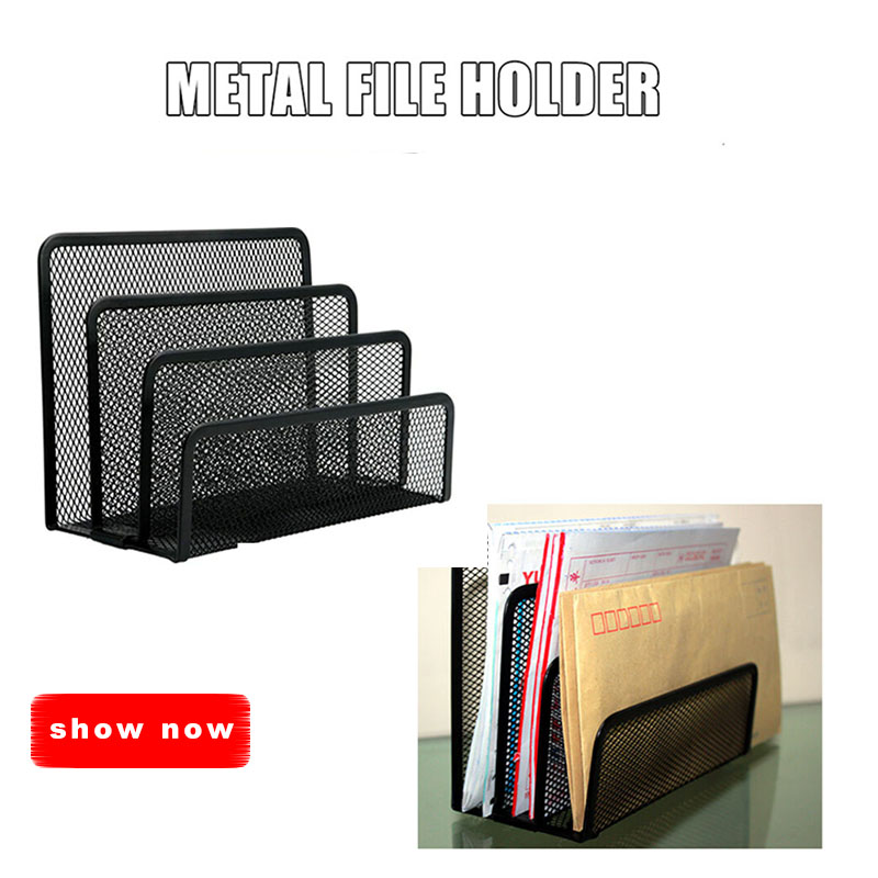 Mesh Letter Sorter Mail Document Tray Desk Office File Organiser Holder Multifunctional File Storage AS99