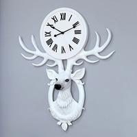Deer Head Large Wall Clock 3d Living Room Modern Clocks Wall Home Decor Nordic Luxury Creative Clock Mechanism Zegar Gift FZ536