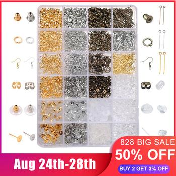 Akcesoria ze stopów biżuteria ustalenia zestaw narzędzia do tworzenia biżuterii drut miedziany pierścienie OpenJump kolczyk elementy do wyrobu biżuterii zestaw tanie i dobre opinie I haczyki klamry 0inch DIY Jewelry Making Ocena biżuteria Metal LUT4158