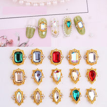 10 pçs ab cristal de vidro de luxo 3d decorações da arte do prego strass arte do prego gem charme diy suprimentos do prego japão coreano manicure plana