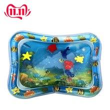 Inflável dupla utilização do bebê brinquedos crianças jogar esteira inflável patted almofada bebê barriga tapete de água prostrado almofada de almofada de água pat