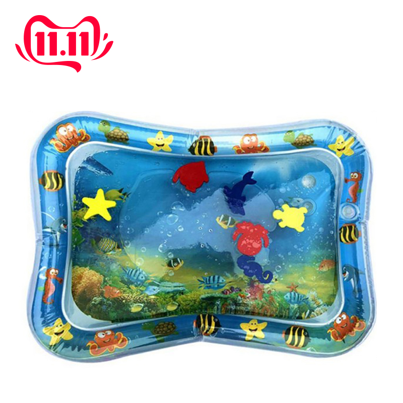 Inflatable Dual Use Baby Toys Kids Play Mat Inflatable Patted Pad Baby Tummy Water Mat Prostrate Water Cushion Pat Pad-in Play Mats from Toys & Hobbies