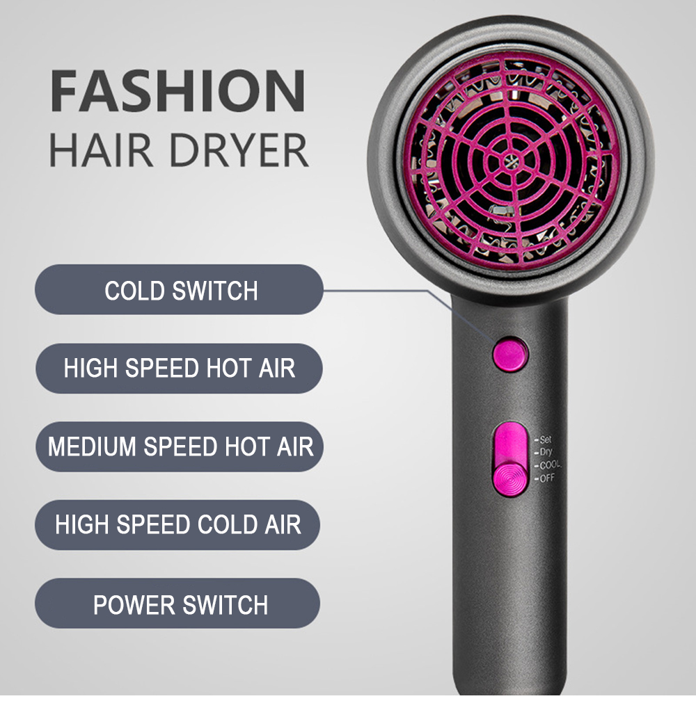 secador 1800w vento forte secador de cabelo
