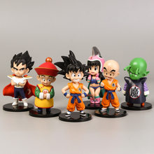 6 pezzi Set DBZ Son Goku Trunks Vegeta Bulma Upa Action Figures Kulilin Pan Piccolo Chichi Anime figurine giocattoli per bambini per bambini