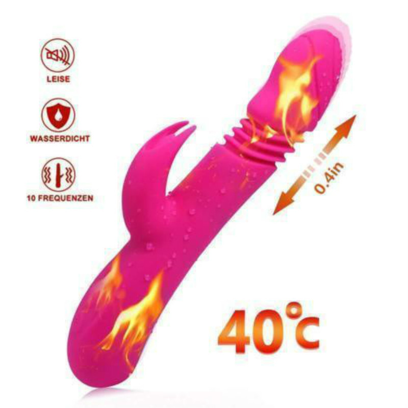 SEAFELIZ Stretchable Heated Av 7 Speed Vibration Bar G spot Massager Wand Sex Product USB Rechargeable