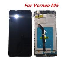 Original 5,2 zoll Für Vernee M5 Mit Rahmen LCD Display + Touch Screen Panel Digitale Ersatz Teile Montage Auf/off Flex kabel