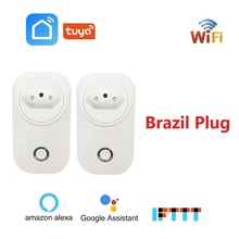 Brazil Smart WiFi Socket BR Plug Wireless Outlet Voice Control Power Monitor Tuya Smart Life APP For Alexa Google Home  IFTTT