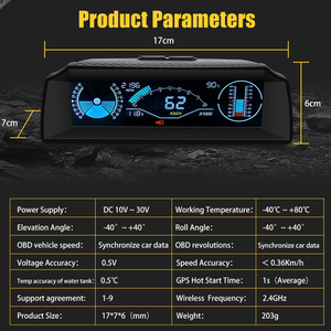 Image 3 - AUTOOL X90 Board Computer Head Up Display Hud Obd2 Car Speedometer Slope Meter Code Clear Inclinometer Compass Car Electronics