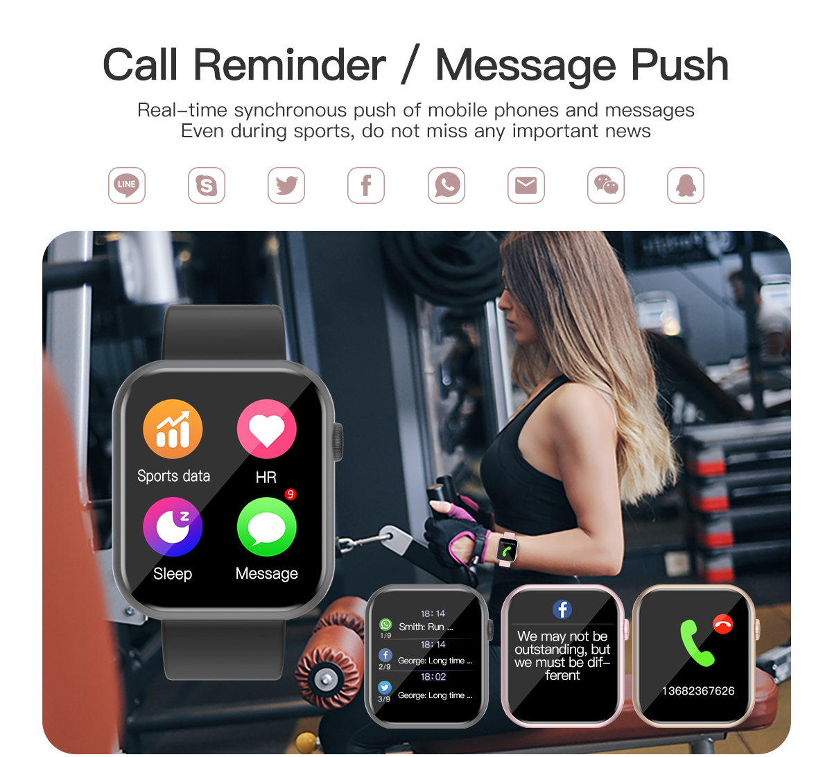 H7c1a07cdb9be41e1b586c8b63055bcaaI COLMI P9 Smart Watch Men Woman Full Smartwatch Built-in game IP67 waterproof Heart Rate Sleep Monitor For iOS Android phone