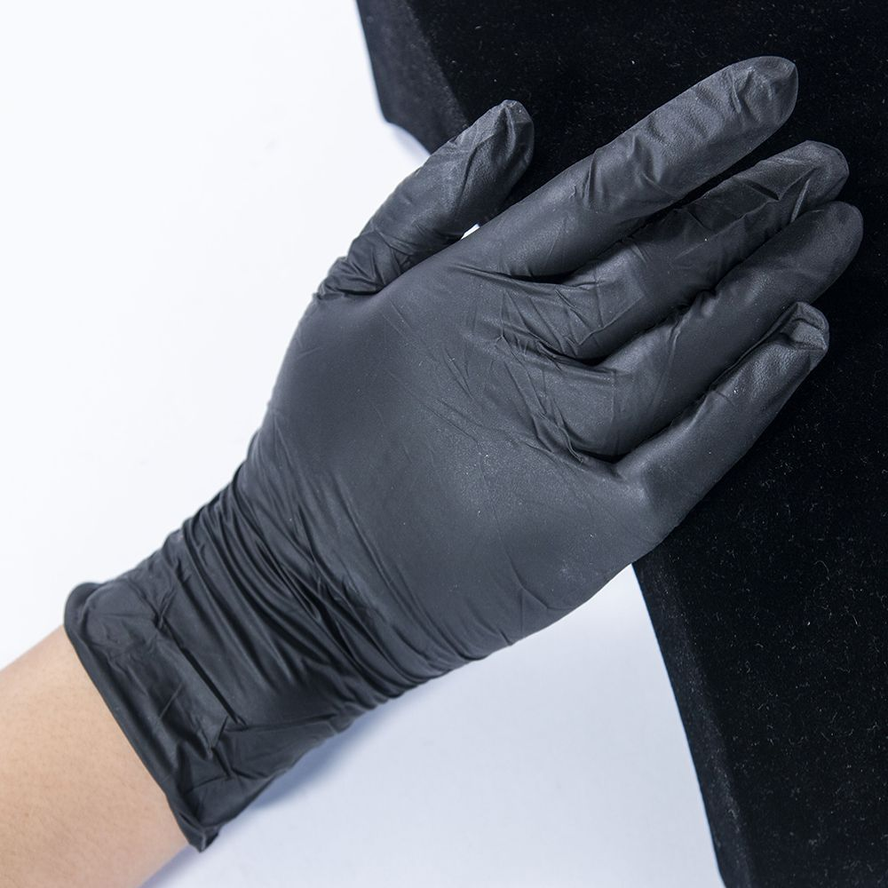 Image 5 - 100pcs Disposable Black Gloves Household Cleaning Washing Gloves 