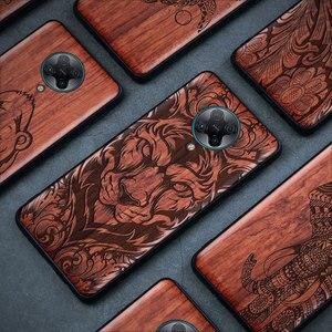 Чехол из натурального дерева Redmi K30 Pro для Xiaomi Redmi Note 9, противоударный Деревянный чехол для Redmi Note 8 Pro 7, чехол K20 Pro 10X Pro Funda