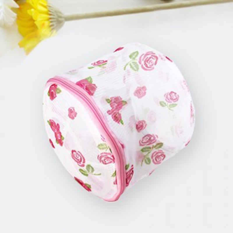 2019 Floral Washing Home Use Mesh Clothing Underwear Organizer Washing Bag Useful Mesh Net Bra Wash Bag Zipper Laundry Bag