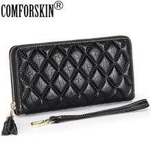 Long Wallet Purse Elephant Female Zipper Genuine-Leather Fashion Simple COMFORSKIN Lady