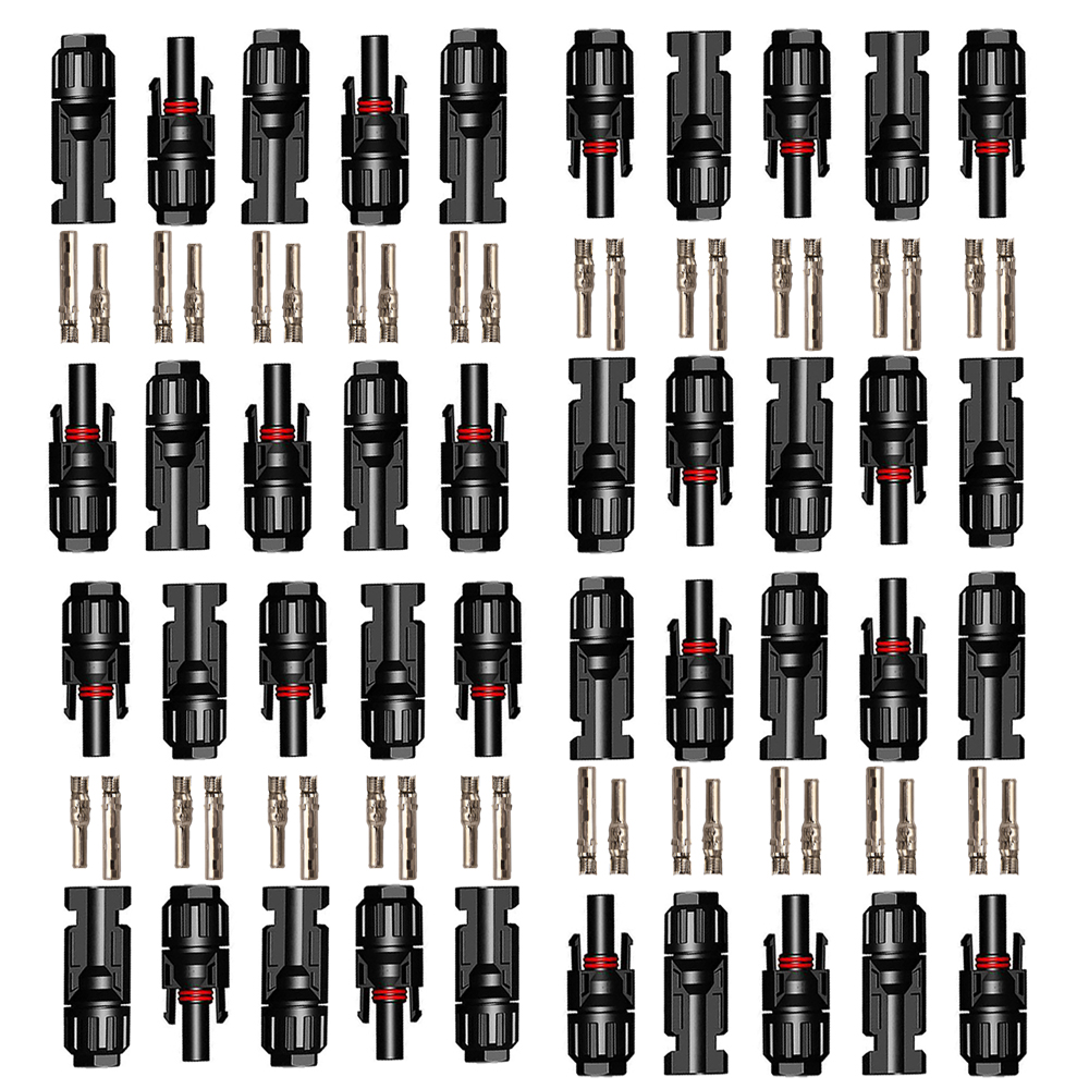 20Pairs Solar Connector Male Female 30A 1000V PV Solar Panel Branch Series Connect Solar System Used PV Cable 2.5/4/6mm2
