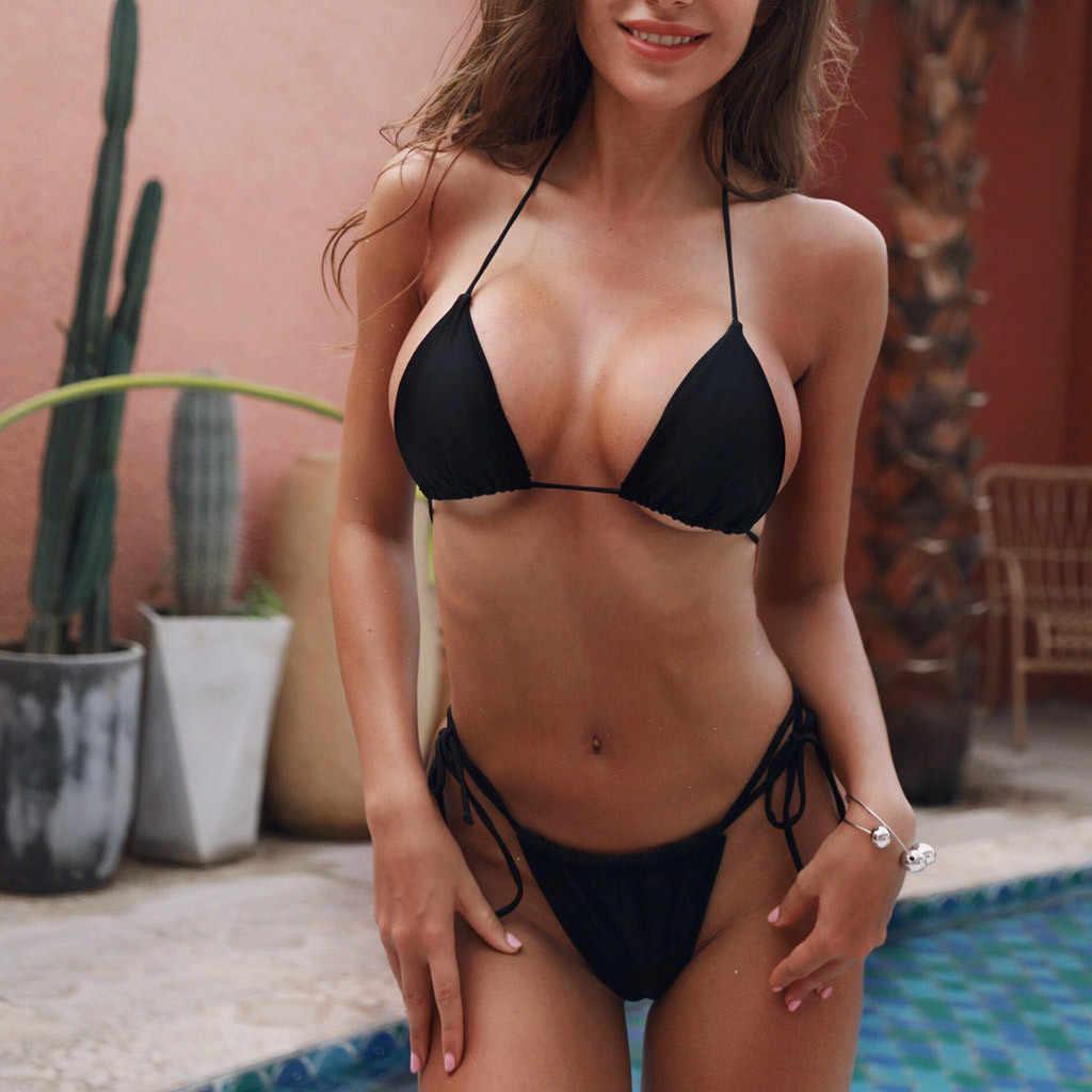 2020 yeni mayo 3 adet kadın bikini seti Zebra desen yastıklı spor mayo mayo Beachwear Dropshipping maillot de bain