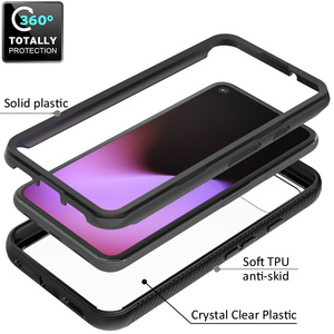 Image 3 - Combo Valweerstand Rugged Case Voor Google Pixel 5 Defender Armor Shield Anti Skid Crystal Clear Cover