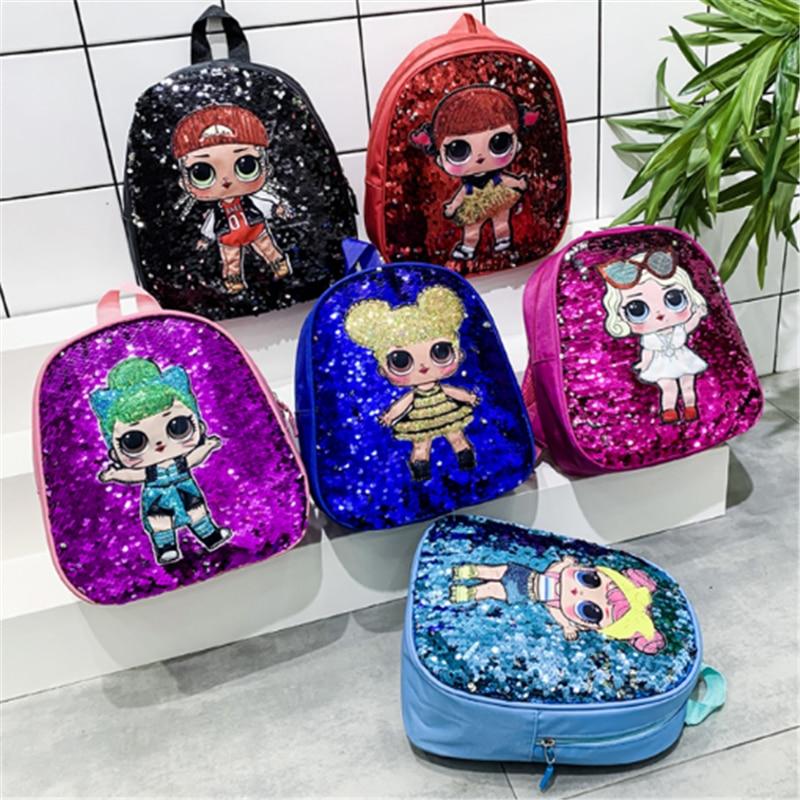 Cute Toddler Backpack Children School Bags For Girls Sequin Cartoon Characters School Knapsack Kids Backpack Bolsa Escolar