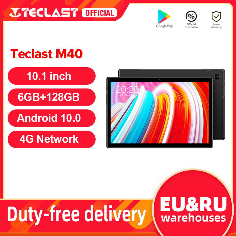 Teclast M40 10.1 ''Tablet 1920X1200 4G Netwerk Unisoc T618 Octa Core 6Gb Ram 128Gb rom Tabletten Pc Android 10 Dual Wifi Type-C